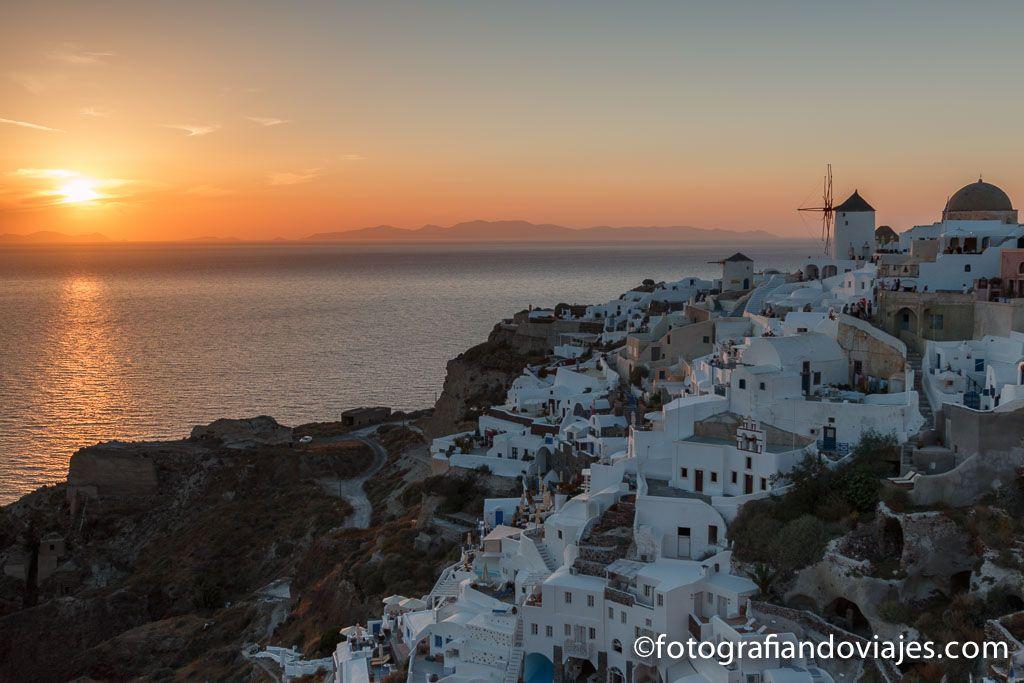 Atardecer en Oia Santorini