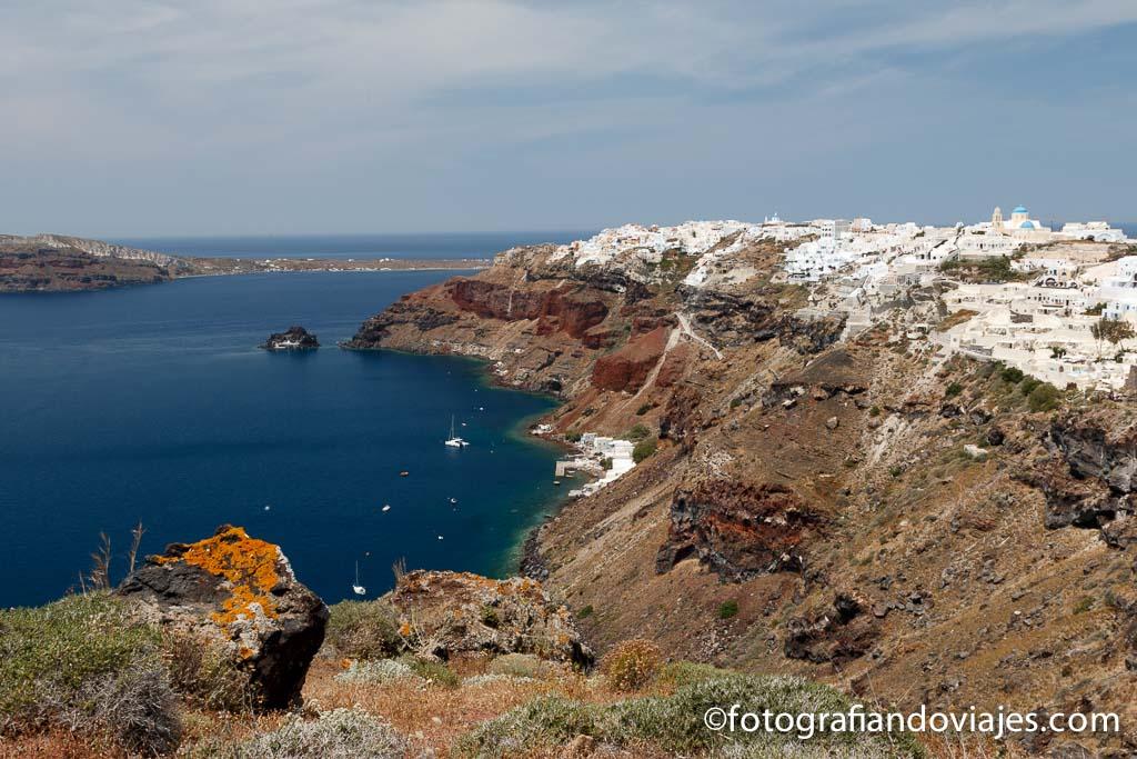 Oia en Santorini