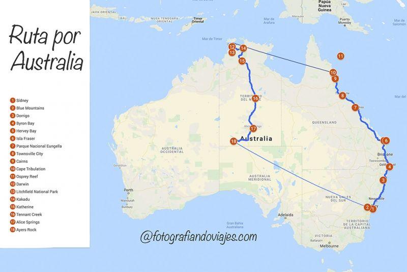 Australia ruta viaje por libre