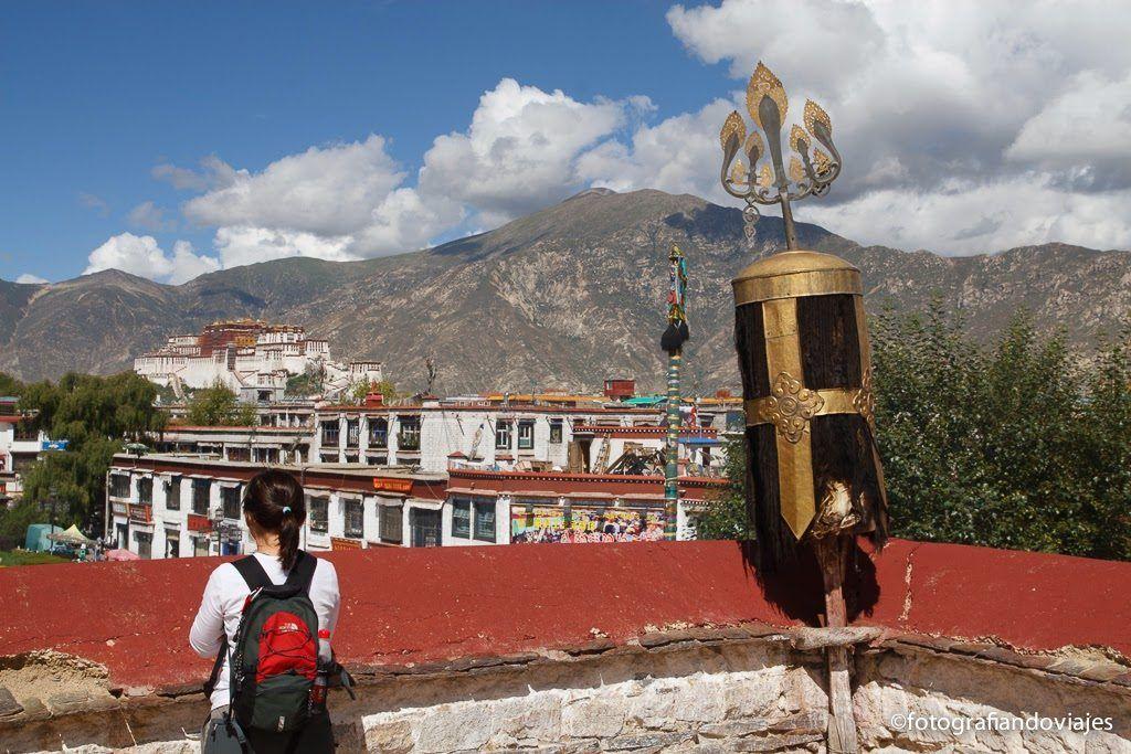Vistas del Potala desde la azotea del Jokhang