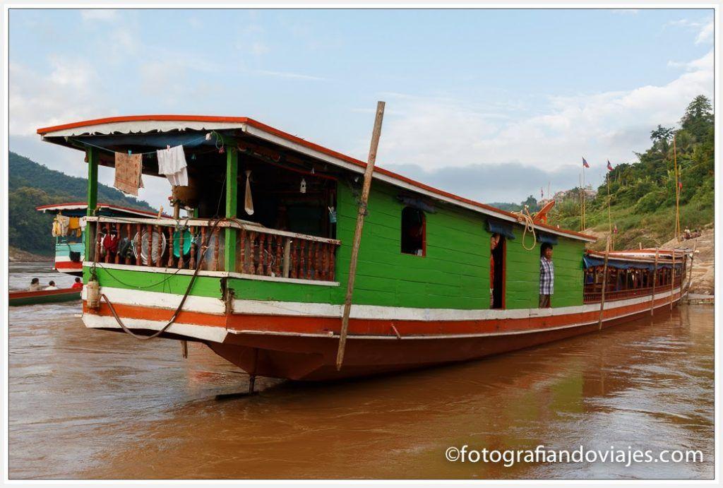 río Mekong cerca de Luang Prabang