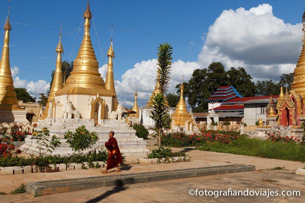 Templo en el pueblo de Pindaya