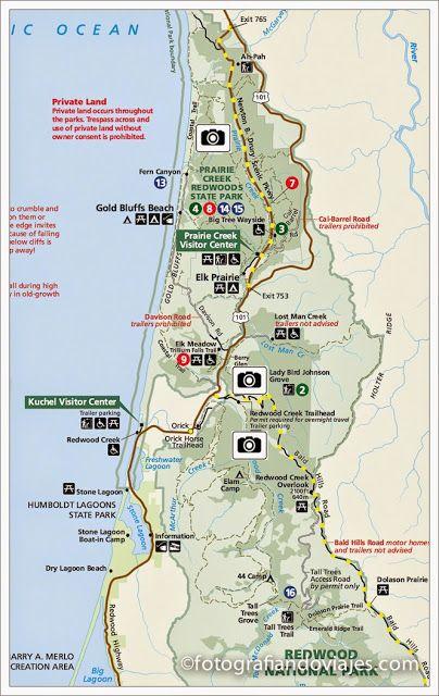 plano parque nacional redwood