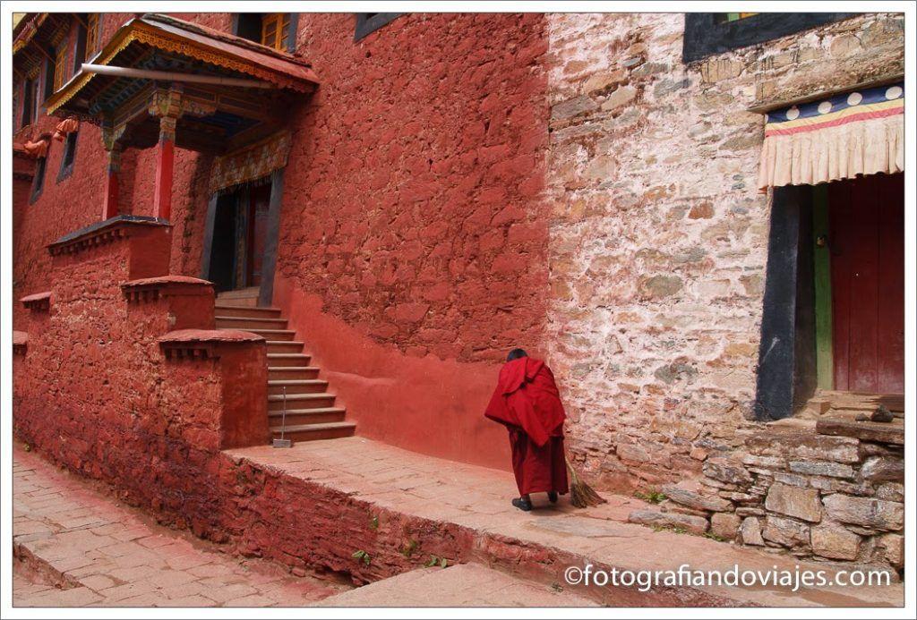 Monje en Tibet