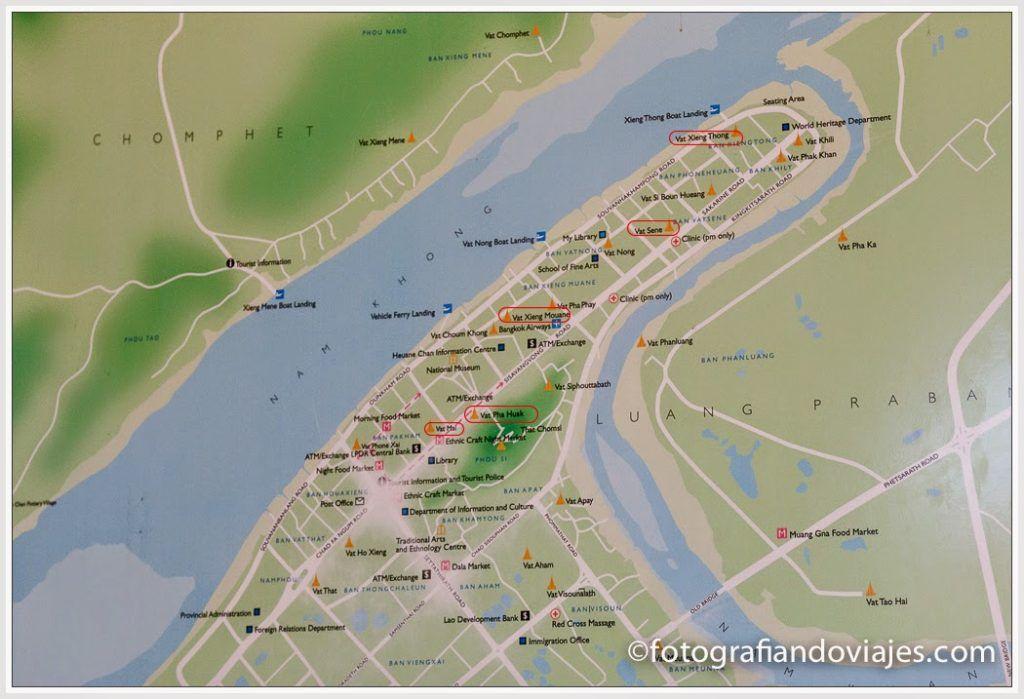mapa Luang Prabang