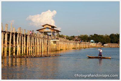 Puente U Bein en Amarapura Myanmar Birmania
