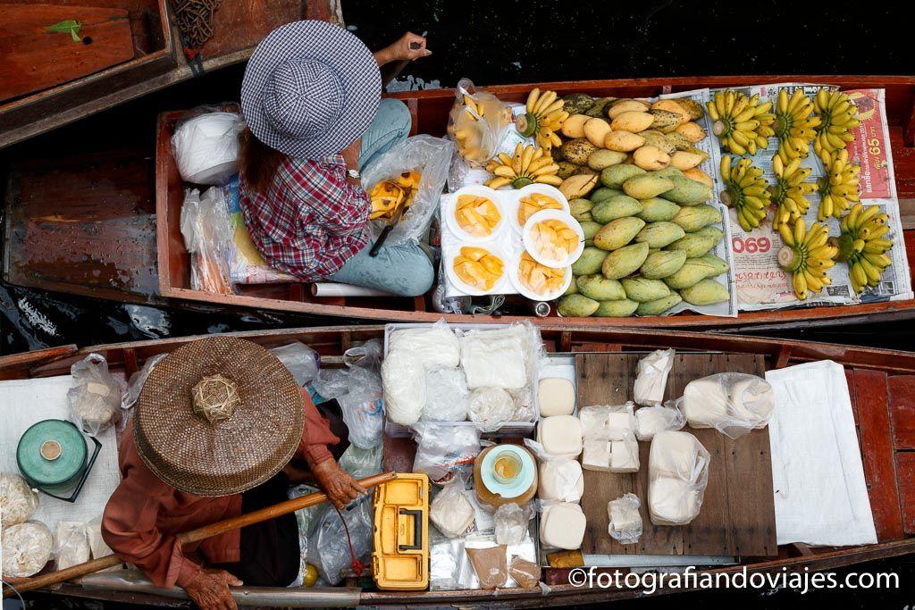 Mercado flotante Bangkok damnoen Saduak