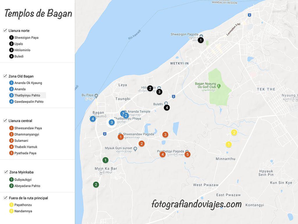 Templos que ver en Bagan en 3 dias por libre
