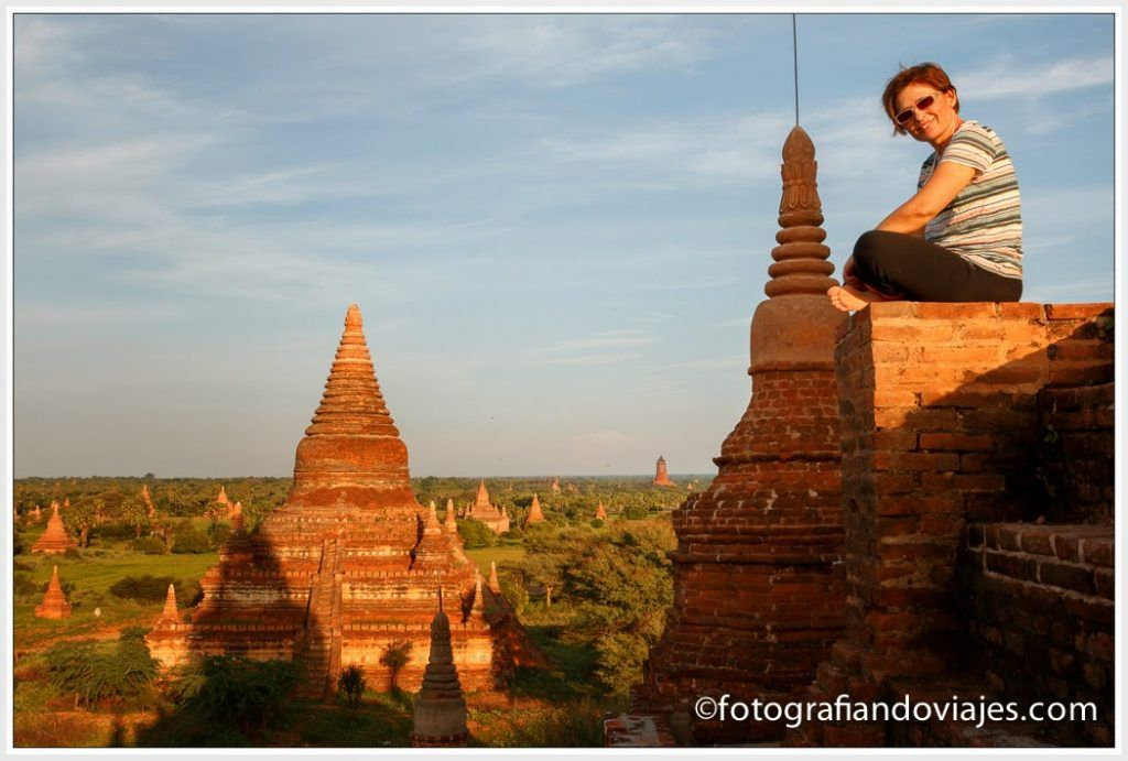 En lo alto de Buledi en Bagan, Myanmar
