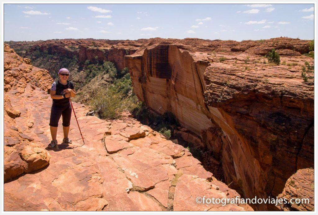 King´s canyon australia sendero Rim walk