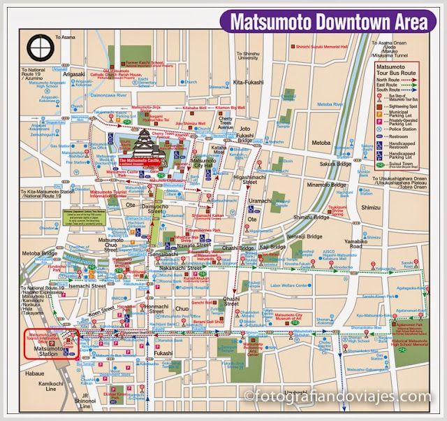mapa de la ciudad de Matsumoto