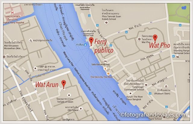 Mapa ferry wat arun
