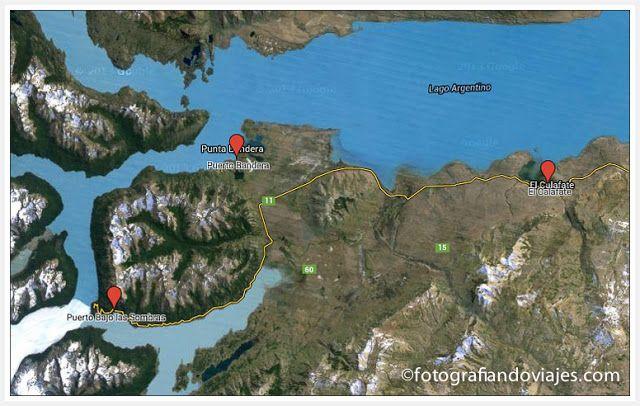Puerto zarpan barcos Perito Moreno, Upsala y Spegazzini