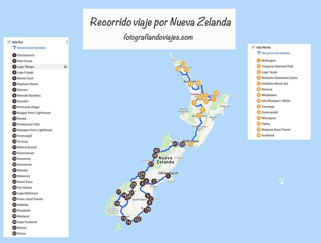 Ruta de un mes por Nueva Zelanda en caravana y por libre