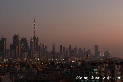 Burj Khalifa al atardecer