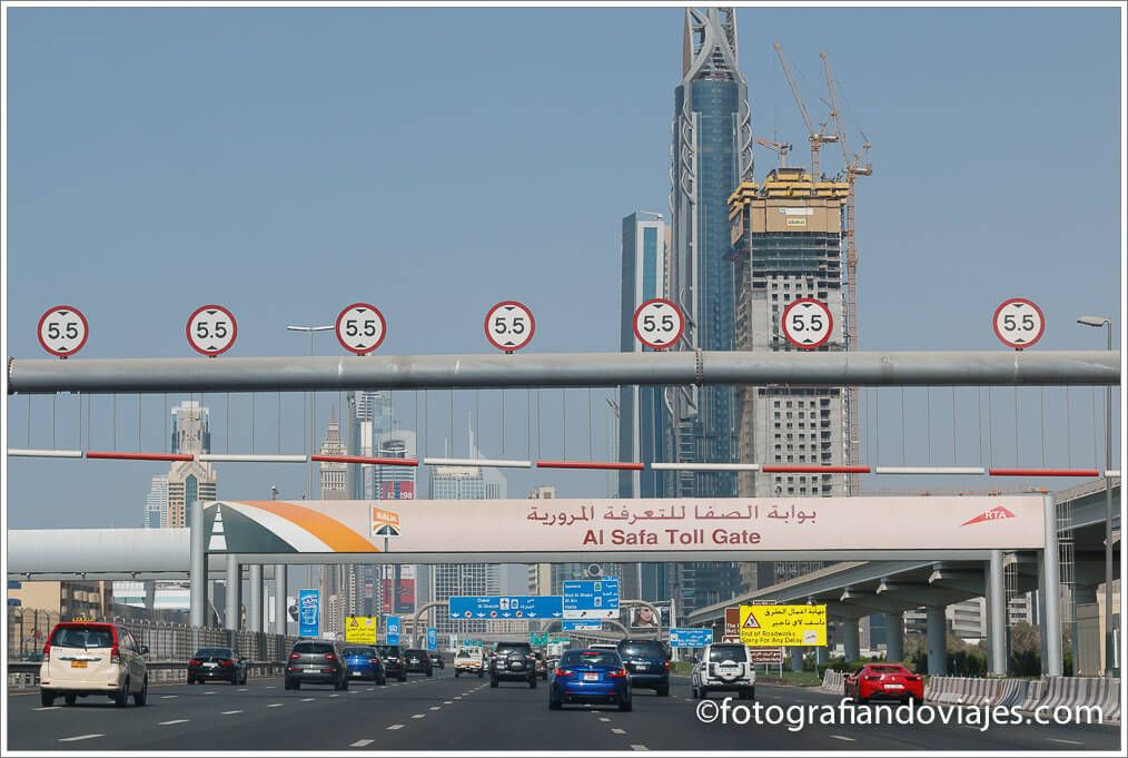 Carreteras en Dubai el Salik