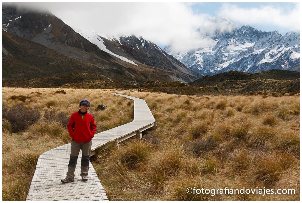 Trekking Hooker Valley al Monte Cook Aoraki en Nueva Zelanda