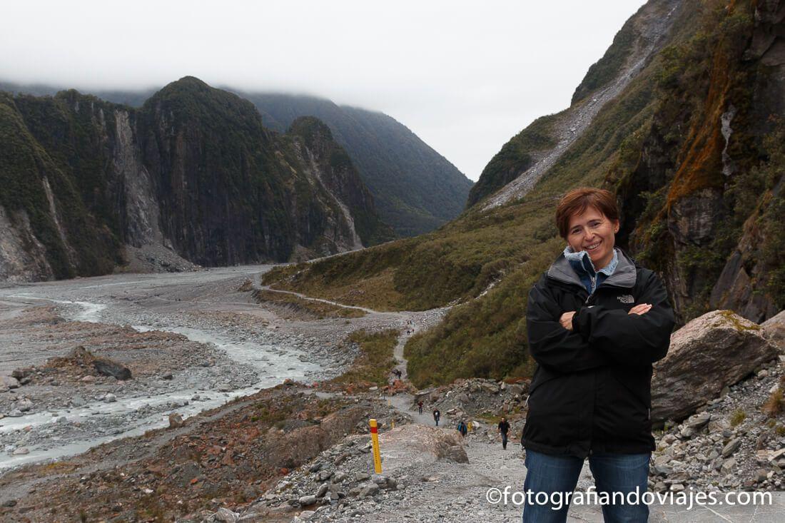 Vistas desde el mirador del glaciar Fox