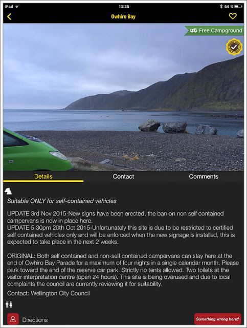 CamperMate app Nueva Zelanda