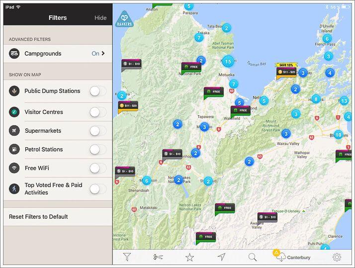 CampingNZ app Nueva Zelanda