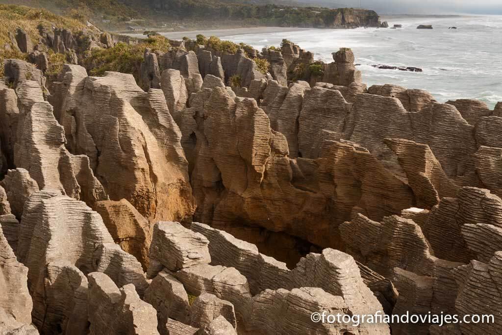 Pancake rocks en Punakaiki Nueva Zelanda