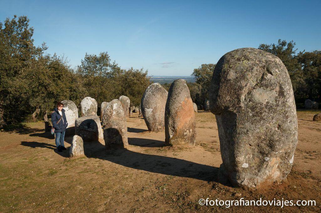 Cromeleque dos almendres en Evora