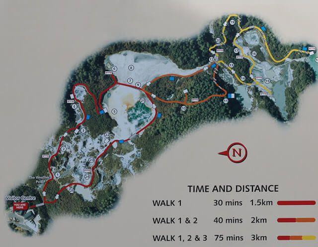 Plano pasarelas zona geotermal wai o tapu
