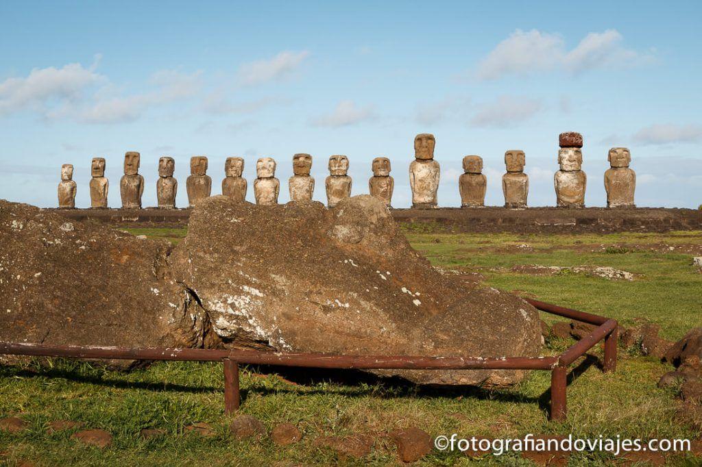 Moais de Tongariki recorrido para ver isla de pascua