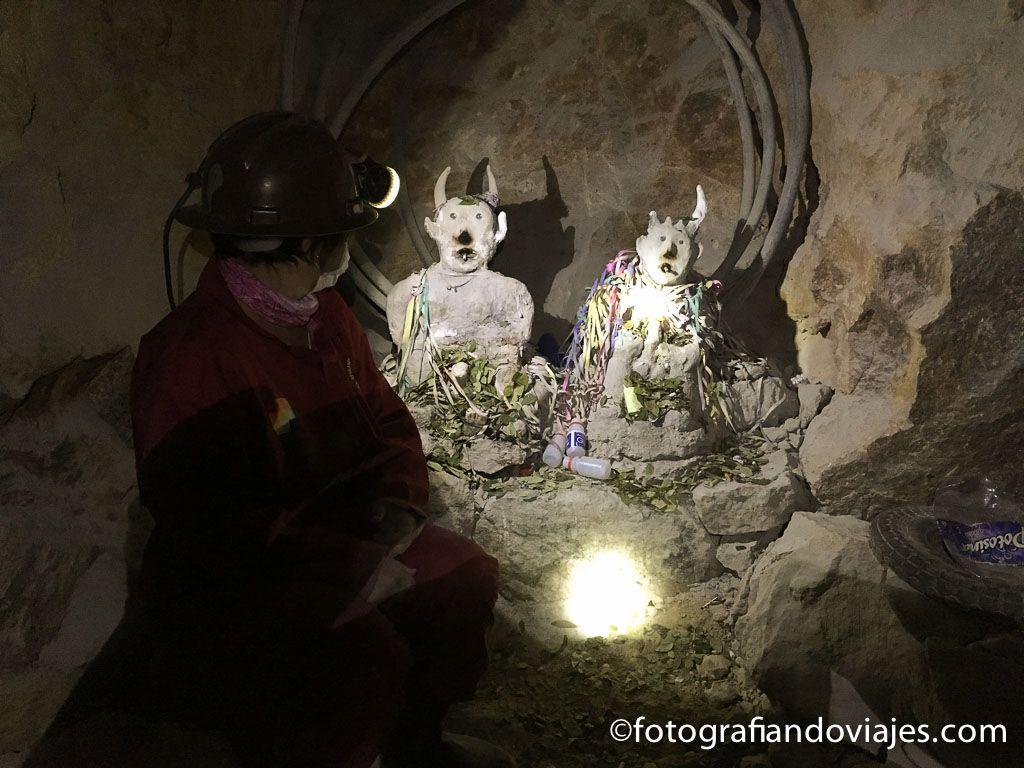 dentro de la mina