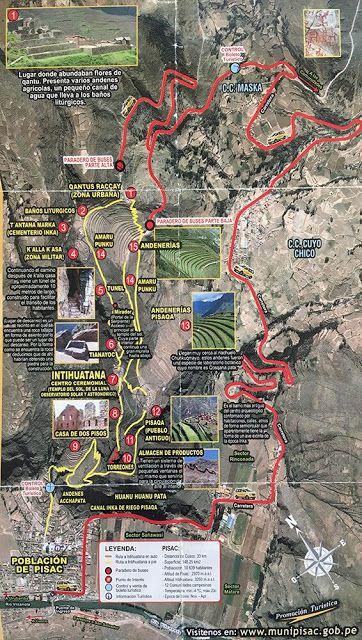 Plano Pisac Inca
