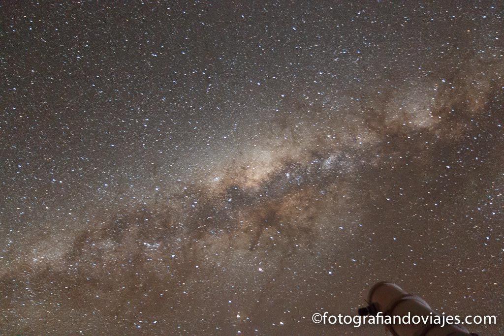 cielo estrellado en el desierto de Atacama