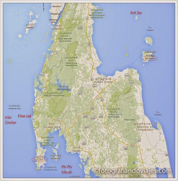 Zonas de buceo en Tailandia