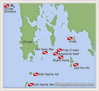 Puntos de buceo en Phuket