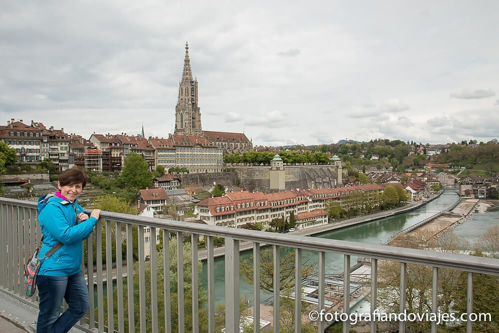 Puente Kirchenfeldbrücke en Berna, Suiza
