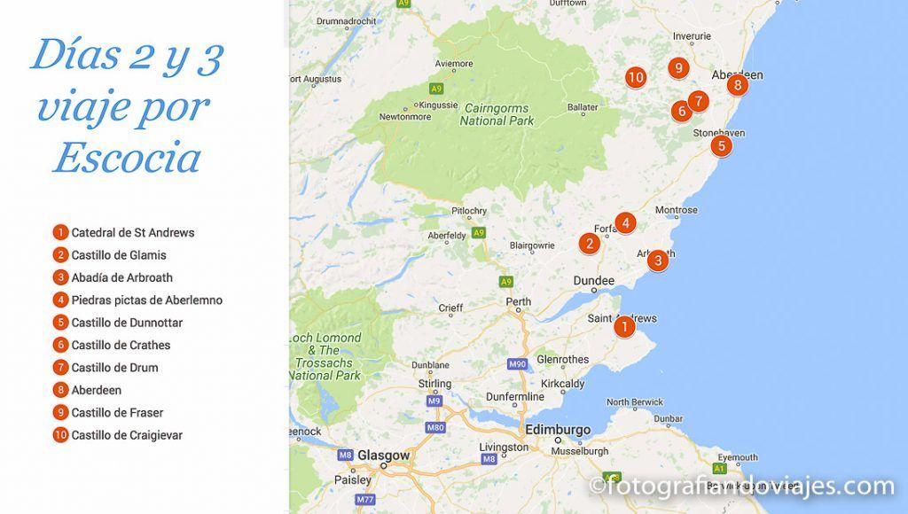 Ruta de castillos y abadías de Escocia