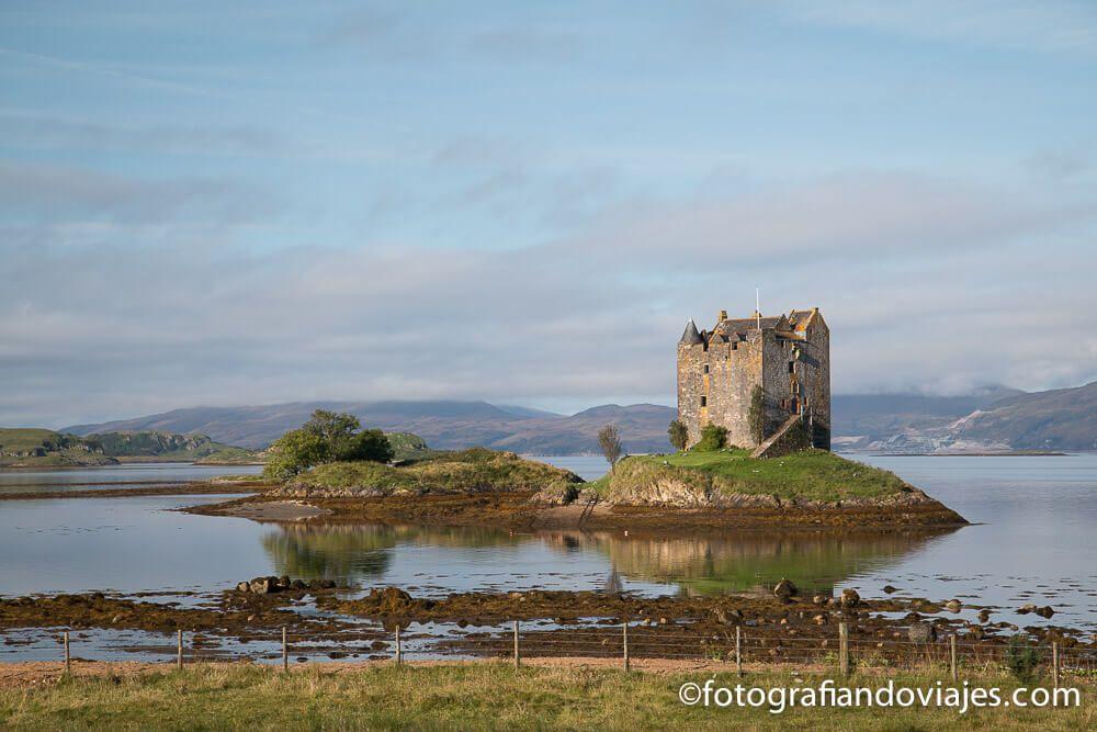 Castillo Stalker ruta de viaje por Escocia