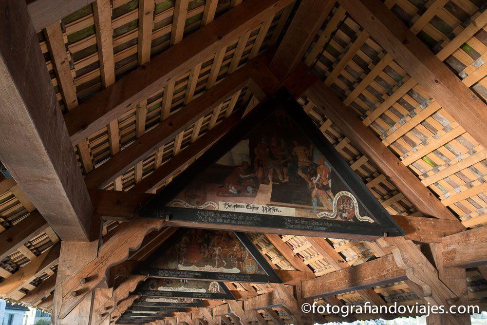 Lucerna puente de la capilla Suiza