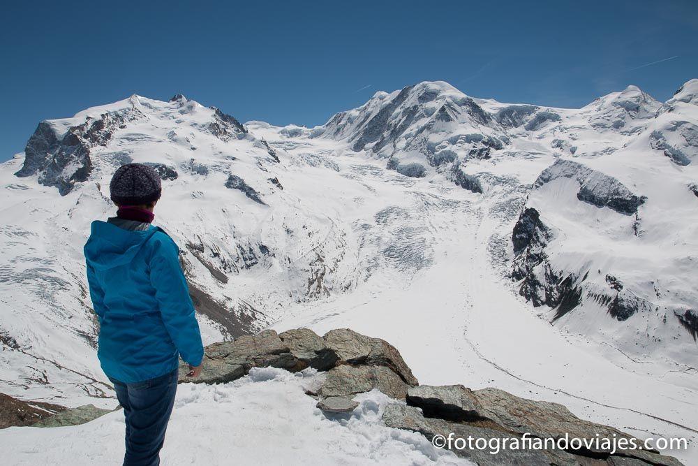 Glaciares desde Gornergrat tren cremallera Suiza