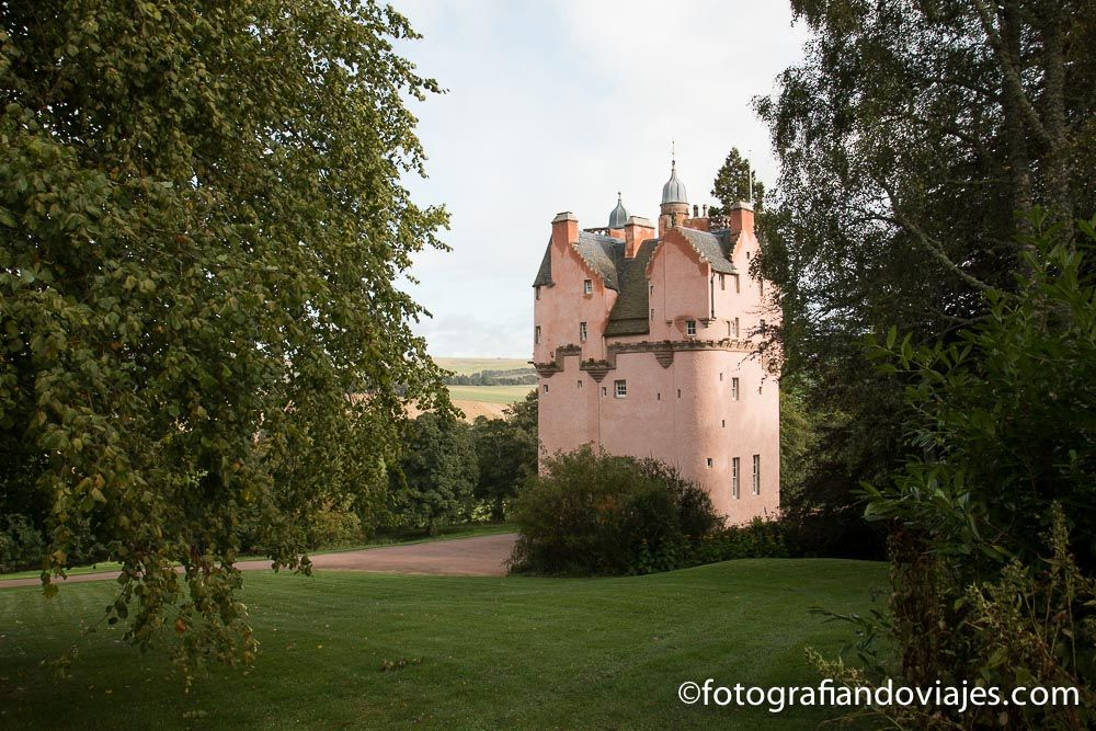 Viaje en coche por Escocia. Castillo de Craigievar