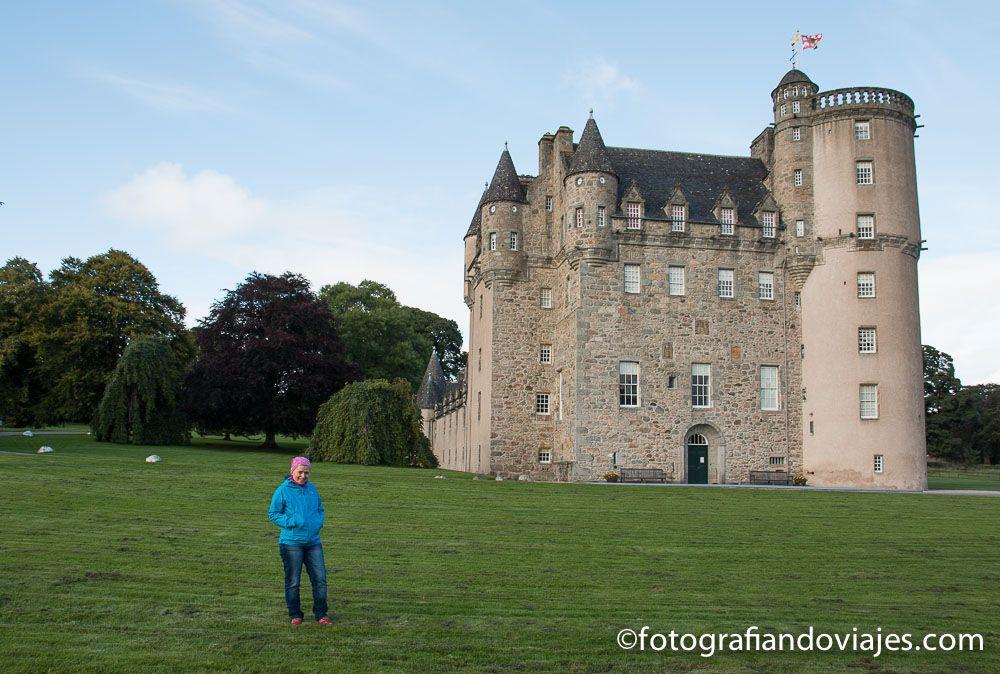 Viaje en coche por Escocia. Castillo de Fraser