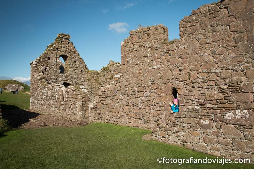 Viaje en coche por Escocia. Castillo Dunottar