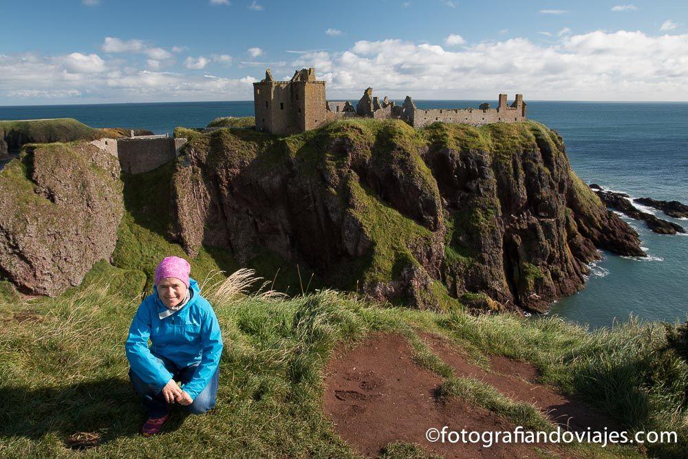 Viaje en coche por Escocia. Castillo Dunnottar