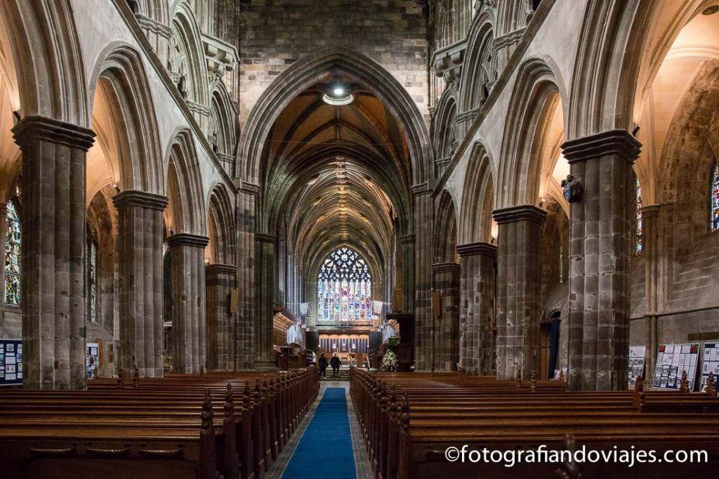 Interior de la abadía de Paisley