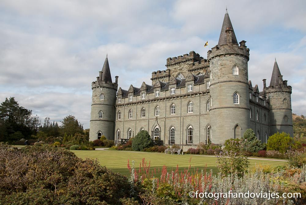 Castillo de Inveraray en la ruta de castillos de Escocia