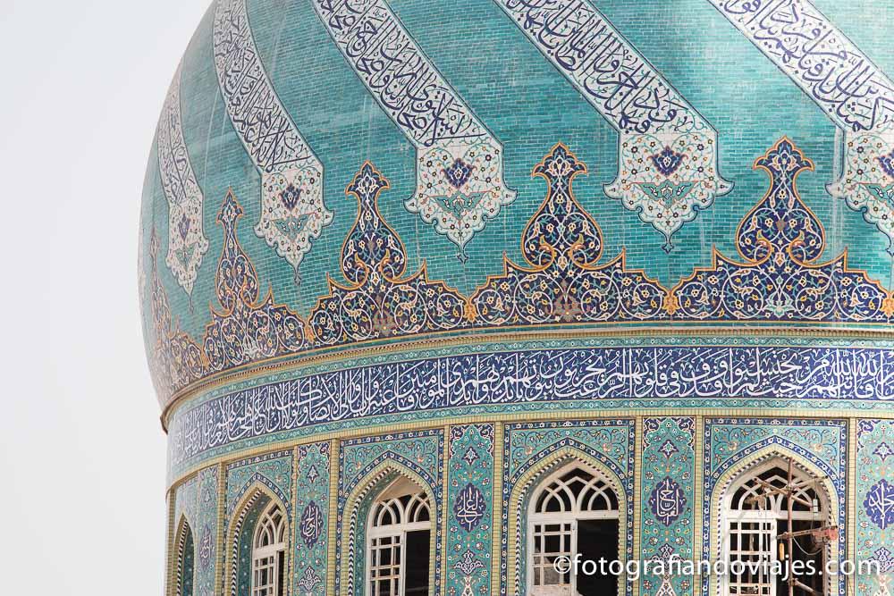 Cúpula de la mezquita Iman Hassan en Qom