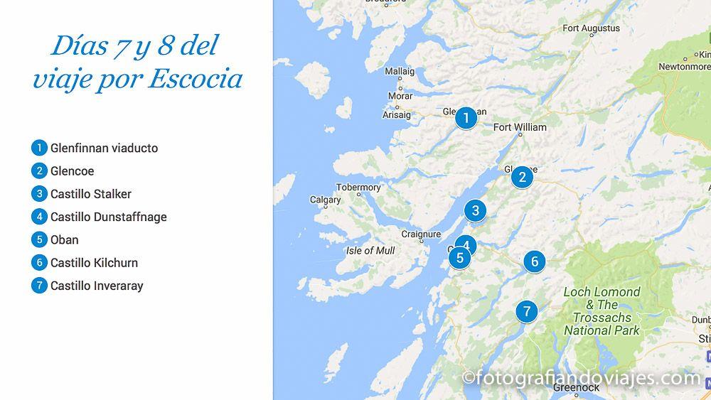 ruta de los castillos de Escocia