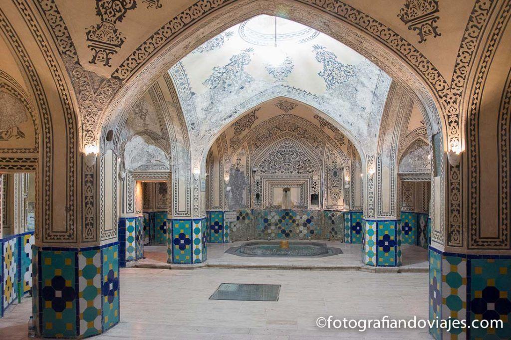 Los baños Hamman-e Sultan Amir Ahmad en Kashan, Iran