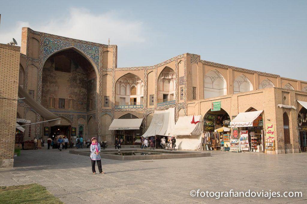 puerta Qaisarieh o Keisaria en el bazar de Isfahan
