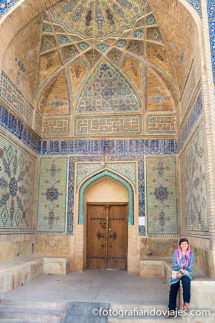 Puerta de la mezquita Ali que ver en Isfahan