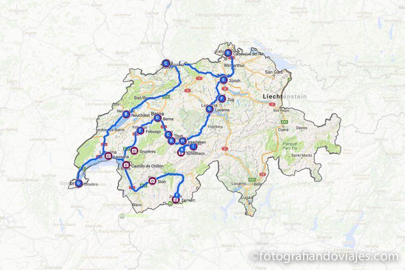 ruta por suiza